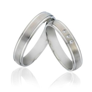 Forlovelsesring/giftering 4 mm