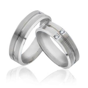 Forlovelsesring/giftering 6 mm