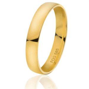Glatt giftering i hvitt gull eller gult gull