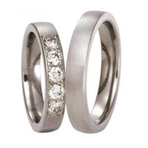Forlovelsesring/giftering i titan, modell uten diamanter T300 fra Swepol